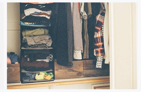Disorganized Closet Space
